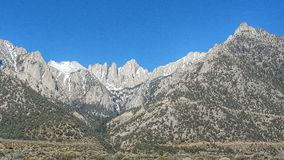 Mount Whitney. The highest mountain in continuous American States royalty free stock images