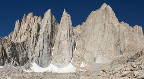 Mount Whitney. The highest peak in the contiguous 48 states royalty free stock images