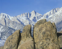 Mount Whitney, Lone Pine, California Royalty Free Stock Images