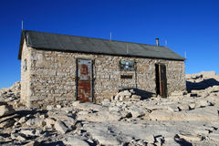 Mount Whitney summit hut Stock Images