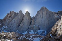 Mount Whitney Sun Royalty Free Stock Photography