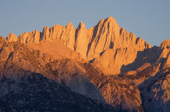 Mount Whitney Sunrise Royalty Free Stock Photos