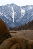 Mount Whitney. A view of Mount Whitney from Lone Pines Stock Images