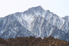 Mount Whitney. A view of Mount Whitney from Lone Pines Royalty Free Stock Image