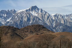 Mount Whitney. A view of Mount Whitney from Lone Pines Royalty Free Stock Photo