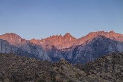 Mount- Whitneysonnenaufgang Lizenzfreie Stockfotografie