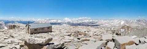 Mount Whitneytoppmötepanorama Arkivbilder