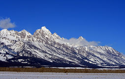 Mount Woodring of the Grand Tetons Peaks in Grand Tetons National Park Stock Photography