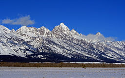 Mount Woodring of the Grand Tetons Peaks in Grand Tetons National Park Royalty Free Stock Images
