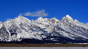 Mount Woodring of the Grand Tetons Peaks in Grand Tetons National Park Stock Photo