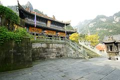 Mount Wudang, China: Ancient Buildings. Mount Wudang, situated in Shiyan City, Hubei Province, China, was the center of China Taoism.nThe ancient buildings in Royalty Free Stock Image