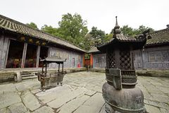 Mount Wudang, China: ancient buildings. Mount Wudang, situated in Shiyan City, Hubei Province, China, was the center of China Taoism.nThe ancient buildings in Royalty Free Stock Photography