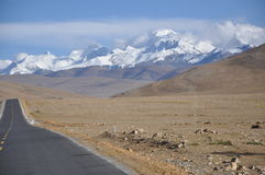 Mount Xixabangma. In Tibet. It's over 8,000 meters higher than sea level Royalty Free Stock Photography