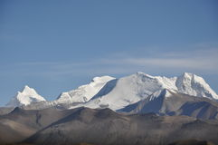 Mount Xixabangma. In Tibet. It's over 8,000 meters higher than sea level Royalty Free Stock Images