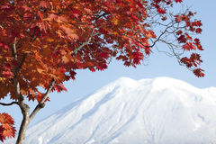 Mount Yotei in Autumn in Japan Stock Photo