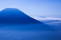 Mount Yotei in a sea of clouds Royalty Free Stock Photo