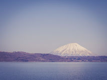 Mount Yotei with vintage filtered effect, Japan Stock Image