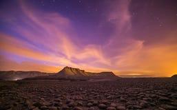 Mount zin. Taken during dusk time in the negev desert Royalty Free Stock Image