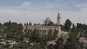 Mount Zion Dormition Abbey Jerusalem stock video