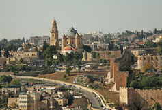 Mount Zion in Jerusalem. Israel Royalty Free Stock Photography