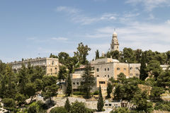 Mount Zion och abbotskloster av Dormitionen Arkivfoton