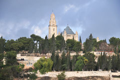 Mount Zion och abbotskloster av Dormitionen, Israel Fotografering för Bildbyråer