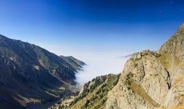 Mountai klyfta Arkivfoto