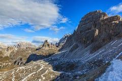 Mountai widok w dolomitach Zdjęcia Stock