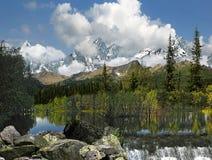 Mountain湖。 免版税库存图片