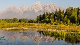 Mountain湖全景 库存照片