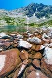 Mountain湖在保加利亚 库存照片