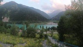 Mountain湖在哈萨克斯坦 股票录像