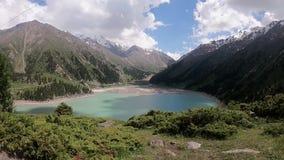 Mountain湖在哈萨克斯坦 影视素材
