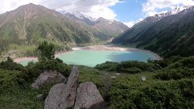 Mountain湖在哈萨克斯坦 股票视频