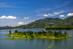 Mountain湖在越南 图库摄影