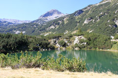 Mountain湖在Pirin 库存照片