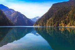 Mountain湖奇迹 库存照片