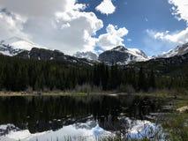 Mountain湖景色 免版税库存图片