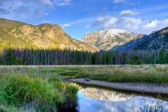 Mountain湖风景。 库存图片