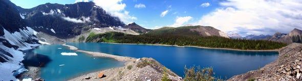 Mountain湖风景全景 免版税库存照片