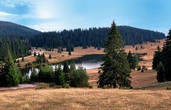 Mountain湖风景 免版税图库摄影