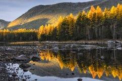 Mountain湖,俄罗斯,西伯利亚, Buryatiya, Froliha 免版税图库摄影