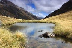 Mountain湖,新西兰 图库摄影