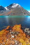 Mountain湖,秋天 免版税库存图片