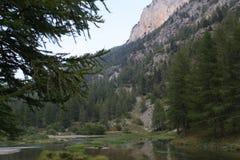 Mountain湖,阿尔卑斯,法国 图库摄影