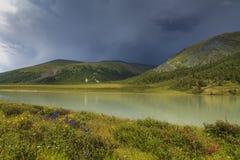 Mountain湖,阿尔泰,俄罗斯 库存图片