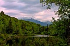 Mountain湖 免版税库存图片