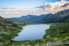 Mountain湖Bucura,在Retezat,罗马尼亚,欧洲 库存图片