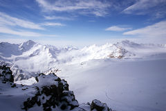 Mountain 006. Elbsrus winter picture with snow and peaks Stock Photography