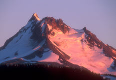 Mountain 03. Sunset at Mount Jefferson, Oregon,USA stock image
